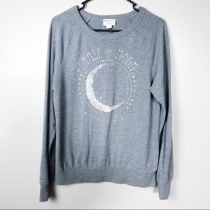 David Lerner Chase The Moon Graphic Pullover